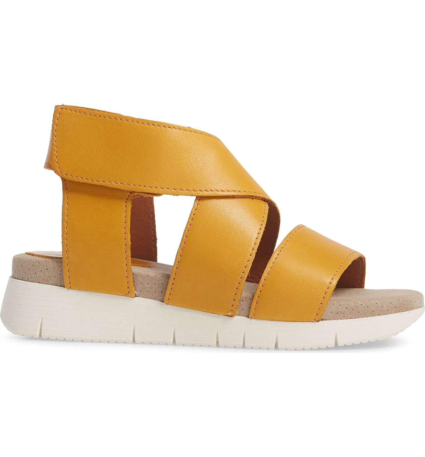 Bos. & Co. Women's Piper Sandal B075GHJH76 37 M EU (6-6.5 US)|Yellow Sauvage Leather