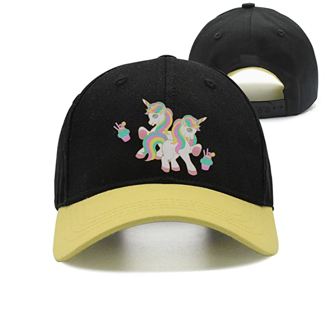 bb16b9bf Image Unavailable. Image not available for. Color: Unisex Trucker Hat  Rainbow Unicorn ...