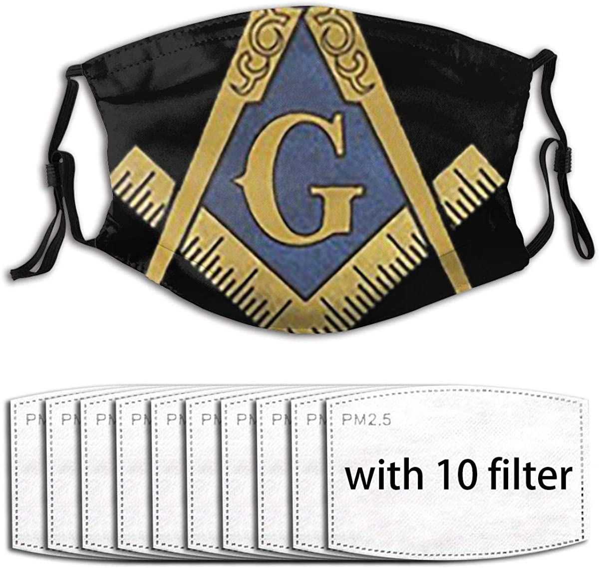 Freemason Face Mask Fashion Scarves Uv Protection Waterproof Breathable With 6 Filter