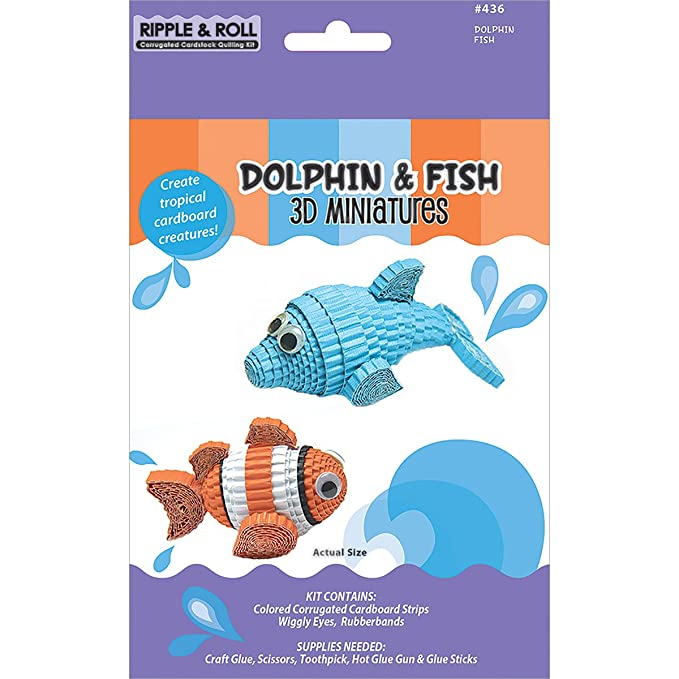 Amazon Com Quilled Creations Q436 Quilling Kit Dolphin And Fish