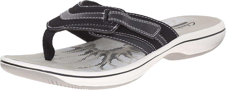 Clarks Brinkley Keeley Grey Thongs Flip Flops Sandals Casual Shoes Womens 11