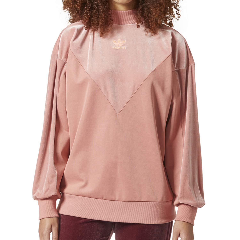 Details about NWT Adidas Originals Trefoil Women's Cropped Hoodie Pullover Sweatshirt PINK XS