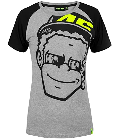 lovely design exceptional range of colors cheap for sale Valentino Rossi Grey-Black VR46 Dottorino Womens T-Shirt ...