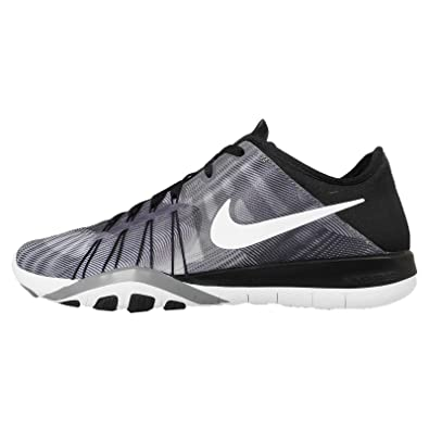 huge selection of 76578 0d0ad Nike Women s Wmns Free TR 6 PRT, BLACK WHITE-COOL GREY, 12