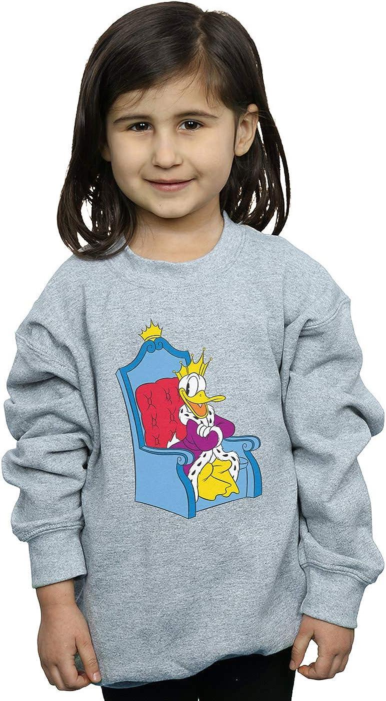 Disney Girls Donald Duck King Donald Sweatshirt