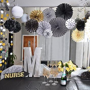 Sunbeauty Graduation Theme Party Decorations Kit Tissue Paper Fans
