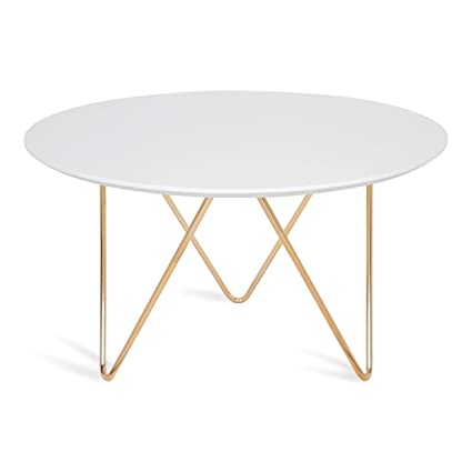 Round Coffee Table White 8