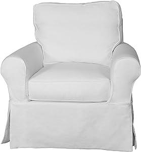 Sunset Trading Horizon Swivel Rocking Chair, White