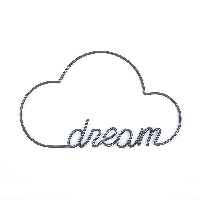 ED Ellen DeGeneres Woodland Friends Wire Wall Art - Cloud/Dream, Grey