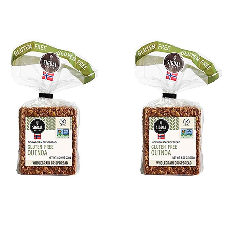 Sigdal Bakeri Gluten Free Quinoa, Wholegrain Crispbread, 8.29oz (Pack of 2) by Sigdal