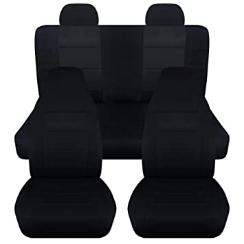 2002 2007 Jeep Liberty Seat Covers With Molded Adjustable Front Rear Headrests