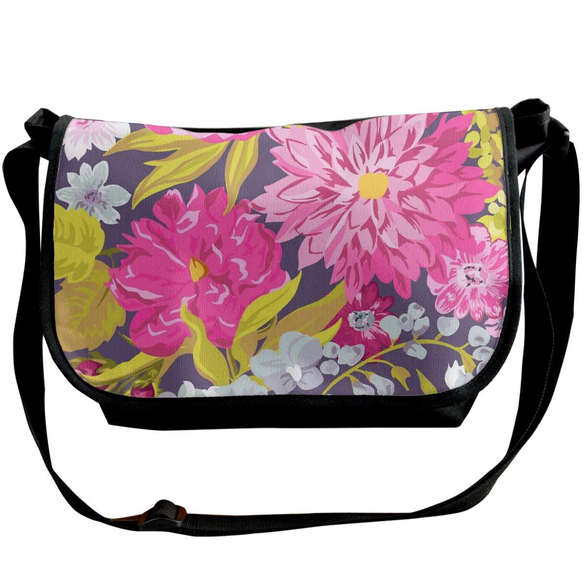 Taslilye Vintage Floral Background Seamless Pattern Customized Wide Crossbody Shoulder Bag For Men And Women For Daily Work Or Travel
