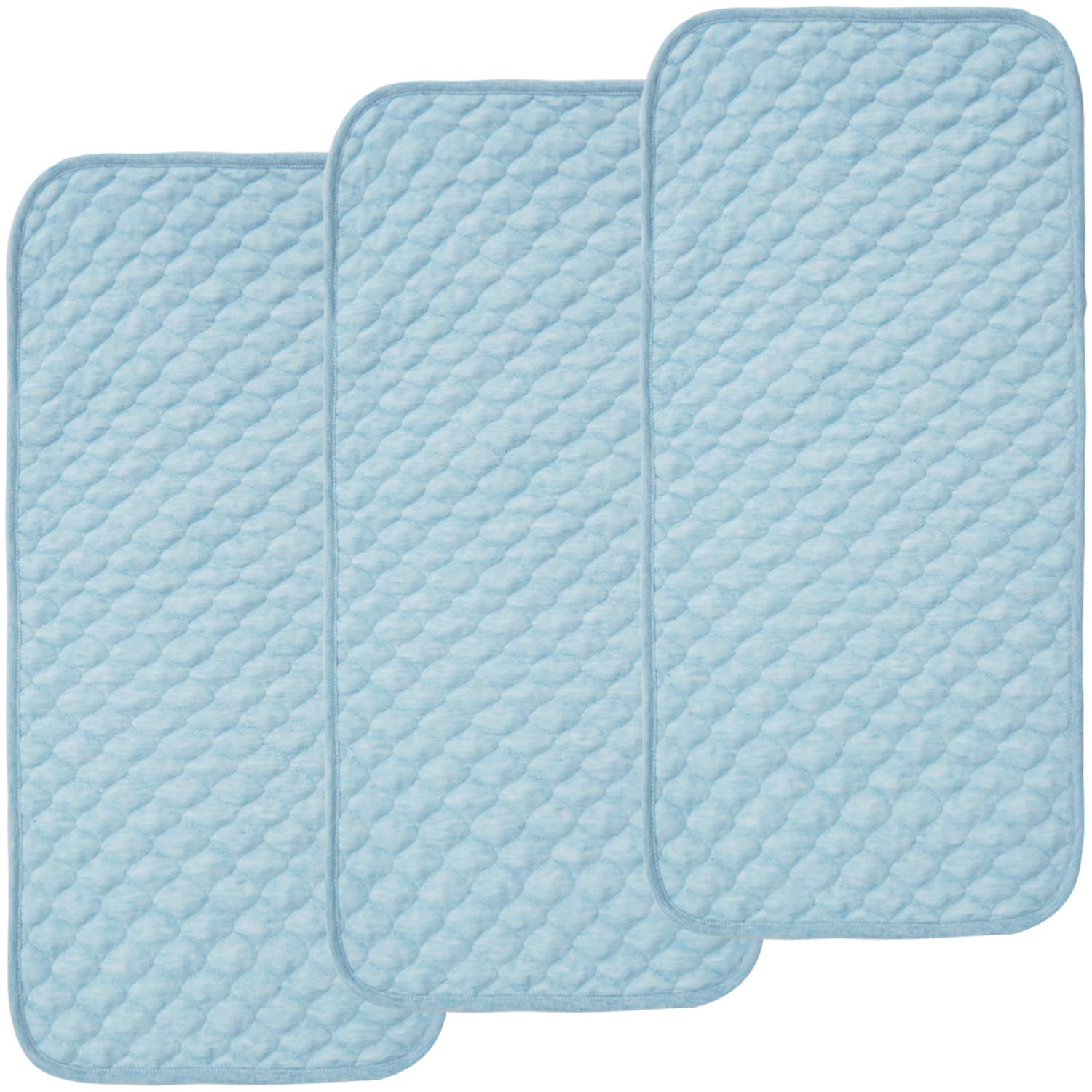 Quilted Thicker Longer Waterproof Changing Pad Liners for Babies 3 Count by BlueSnail White