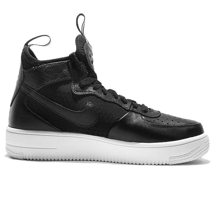 Nike W Air Force 1 Ultraforce Mid, Chaussures de Gymnastique Femme, Noir (Black/Black/White), 35.5 EU