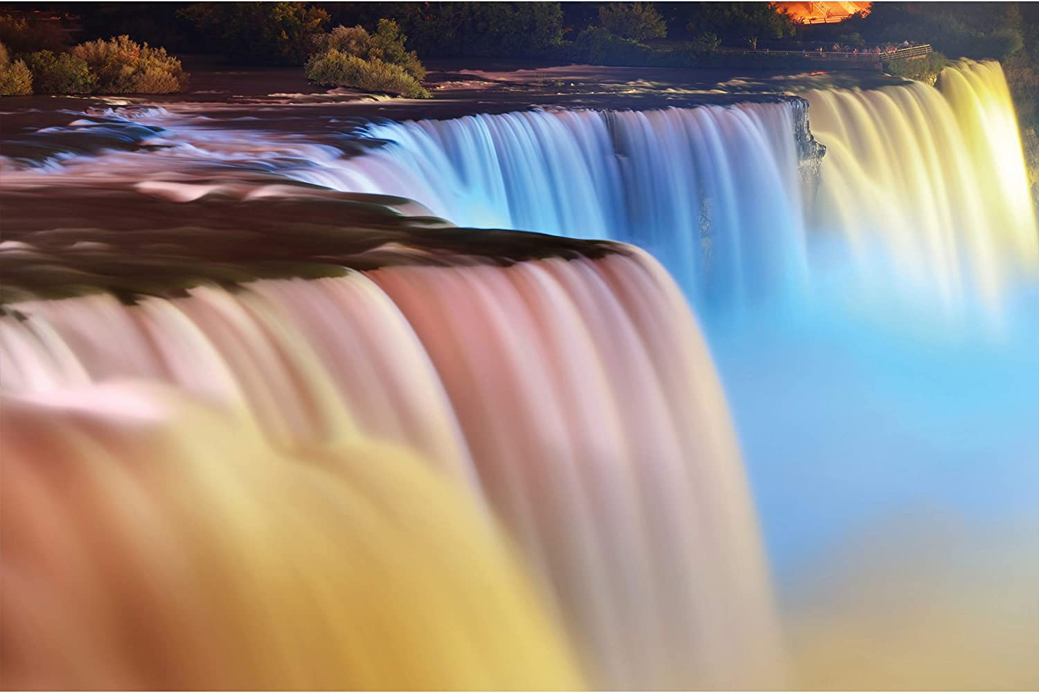 GREAT ART Poster – Niagara Falls – Picture Decoration Beautiful Waterfall Colorful Landmark America Canada River Huge Cascade Nature Image Photo Decor Wall Mural(55x39.4in - 140x100cm)