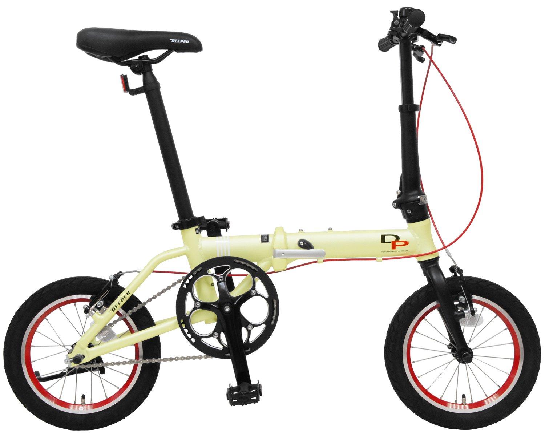 DEEPER(ディーパー) 14インチ 折り畳み自転車 DFB-140 アルミフレーム JIS耐振動試験合格フレーム採用 持ち運びに便利な輪行キャリングバッグ付き 通勤用 通学用 超軽量モデル B077M7THZNホワイト(WH)