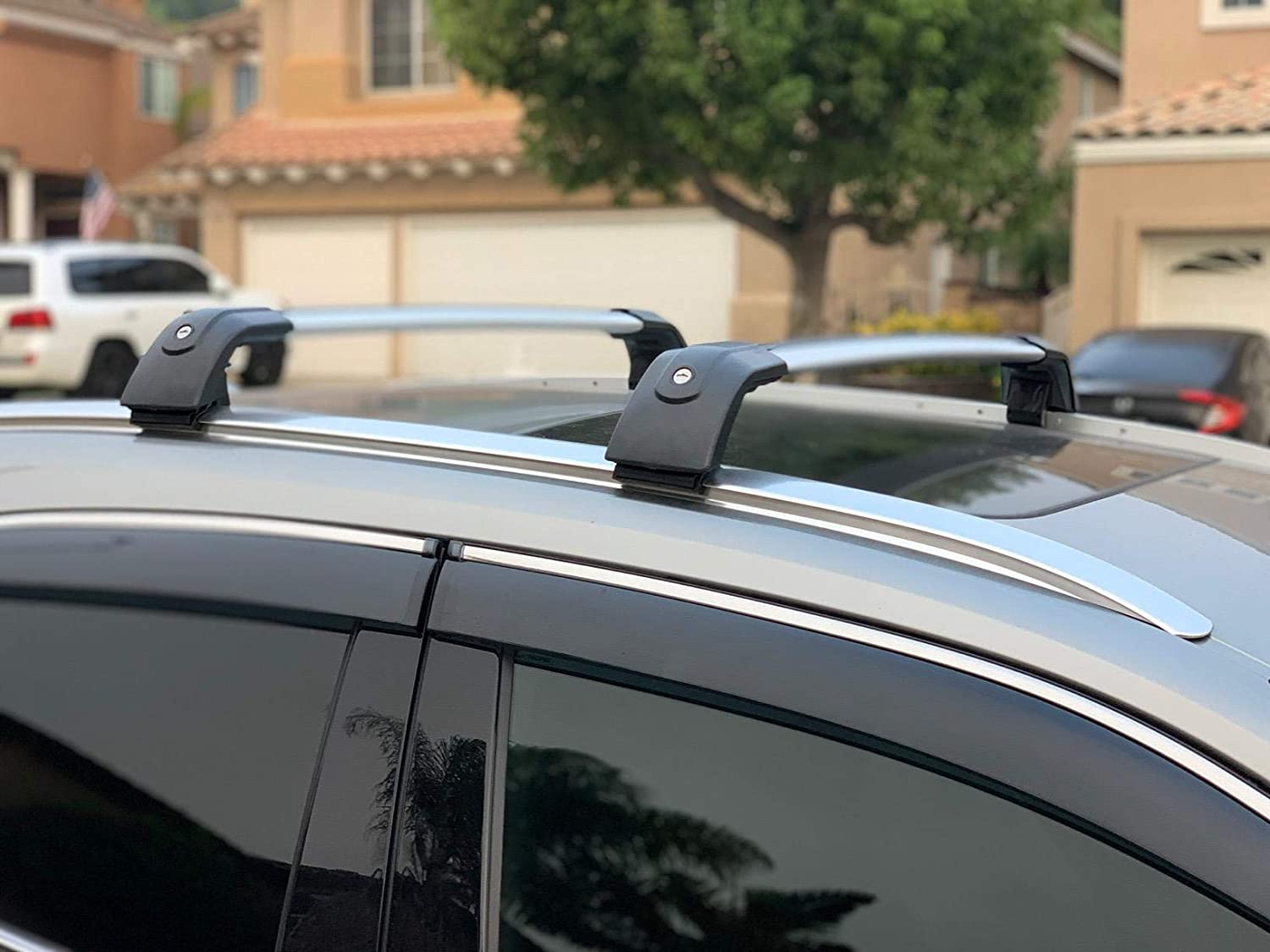 SnailAuto Fit for Lincoln Aviator 2019 2020 Silver Lockable Roof Rack Cross Bars Crossbars