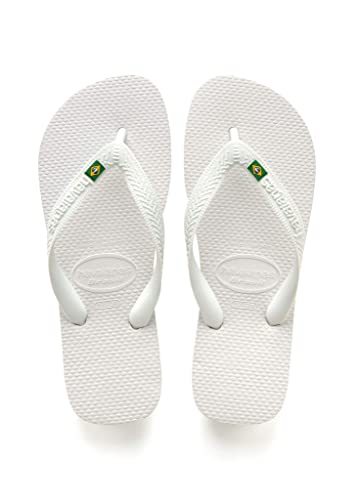 028c45f89f6a Havaianas Brazil Flip Flop Sandals White 39 40 BR (9-10 M Women s