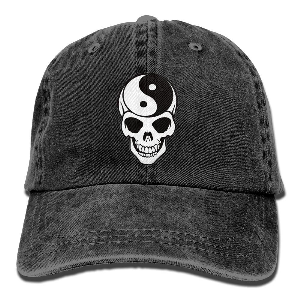 Trableade Yin Yang Skull Adult Sport Adjustable Structured Baseball Cowboy Hat