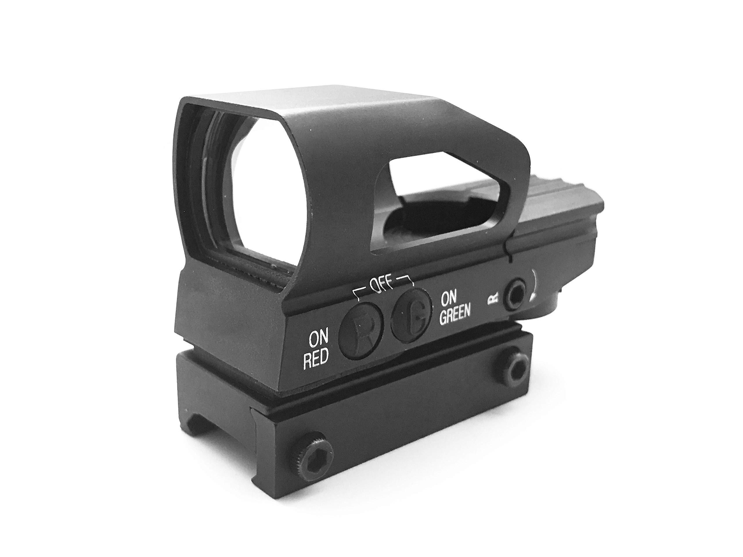 AlphaZ Green Red Dot, Reflex Sight, Red Dot Sight con sistema de retícula múltiple de montaje en riel