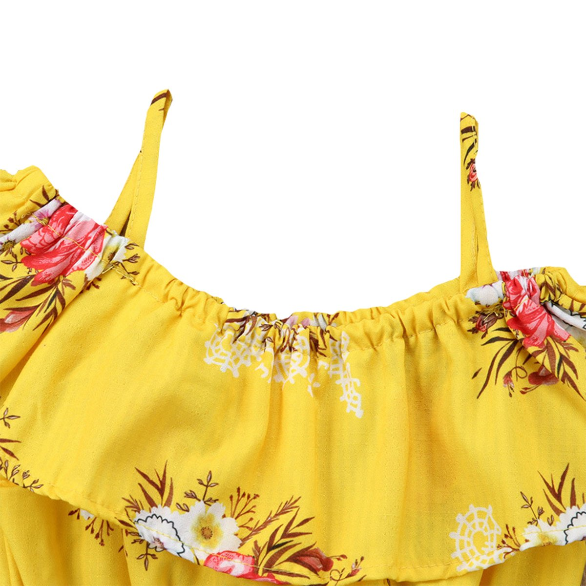 Monofin Baby Girls 2Pcs Shorts Sets Flower Printed Tank Tops+Shorts Outifts