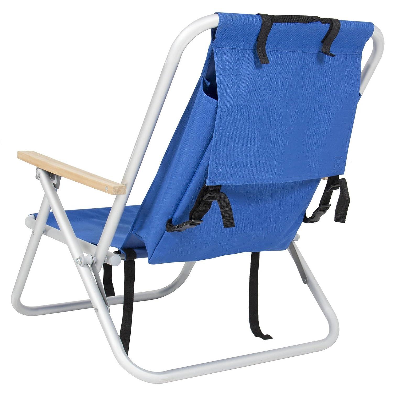 バックパックビーチ椅子折りたたみポータブル椅子ブルーソリッドConstructionキャンプby allgoodsdelight365 B073VF3482