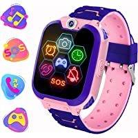 PTHTECHUS Reloj inteligente para niños y niñas, reloj inteligente para niños [Micro SD de 1 GB incluido] reproductor de…