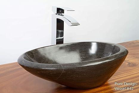 PURE DESIGN Natural Limestone Hand Carved Stone Bowl Sink Washbowl on natural lighting bathroom, natural wood bathroom, natural bathroom products, natural stone bathroom, natural bathroom design ideas, natural tile bathroom,