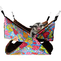 Pet Cage Hammock, Bunkbed Sugar Glider Hammock, Guinea Pig Cage Accessories Bedding Cozy Small Animals Bed for…