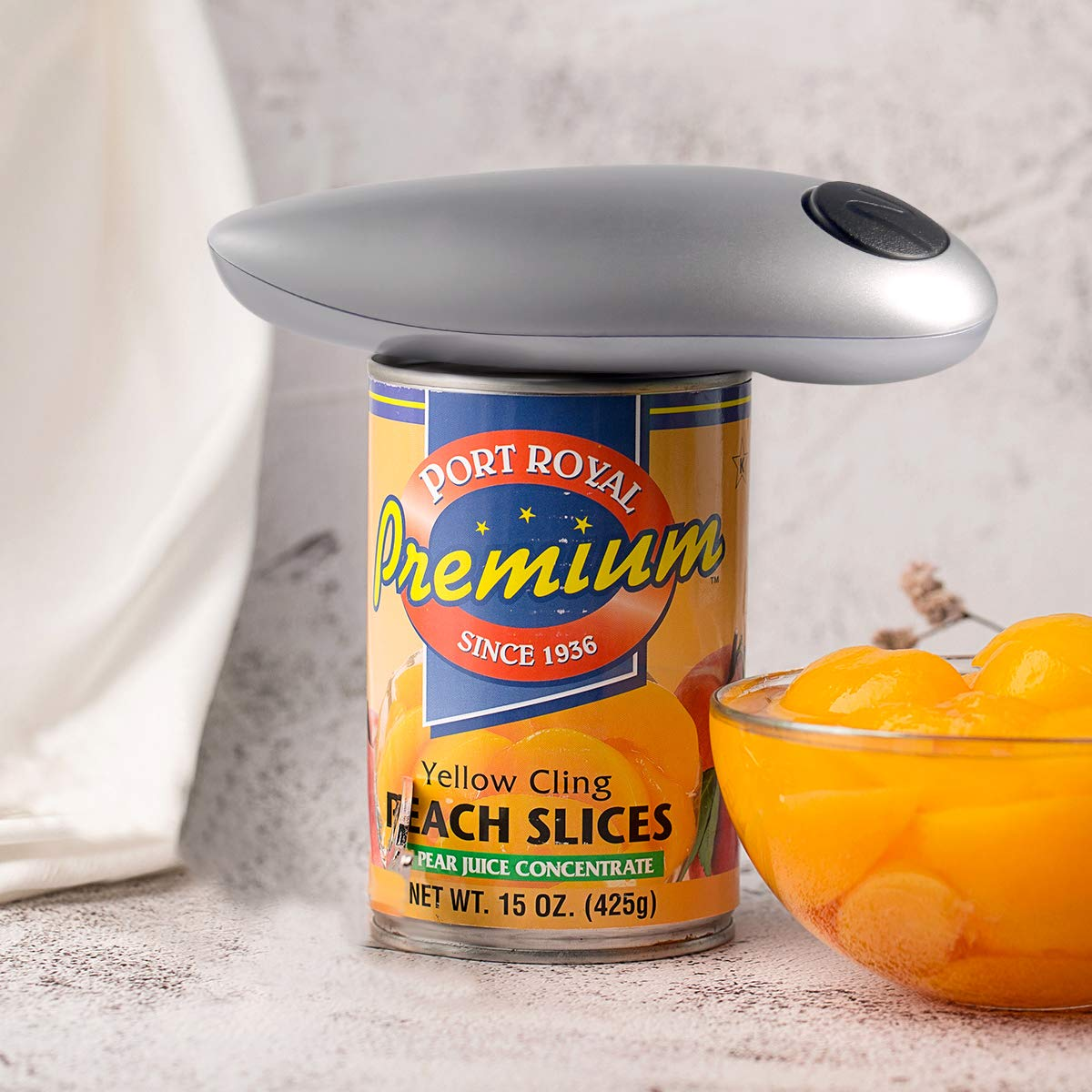 Electric Can Opener, Smooth Edge Automatic Can Opener for Any Size, Best Kitchen Gadget for Arthritis and Seniors (GrayClassic1) by instecho (Image #6)