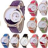 Yunanwa 10-Pack Wholesales Women's Leather Watch Quicksand Bracelet Ladies Dress
