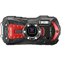 """Ricoh WG-60 Waterproof Digital Camera, 2.7"""" LCD (WG-60 Red)"""