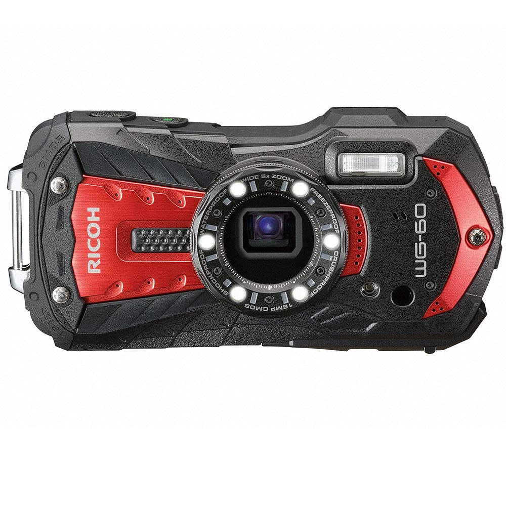 ricoh-wg-60-red-waterproof-camera-16mp-high-resolution-images-waterproof-14m-shockproof-16m-underwater-mode-6-led-ring-light-for-macro-photography