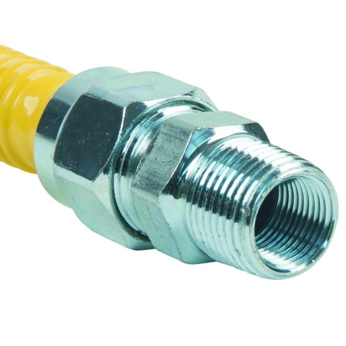BrassCraft CSSC14-48 P 3//4-Inch MIP x 1//2-Inch MIP x 48-Inch ProCoat Gas Appliance Connector 5//8-Inch OD 106,000 BTU BrassCraft Mfg