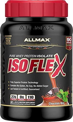 ALLMAX Nutrition – ISOFLEX – 100 Ultra-Pure Whey Protein Isolate – Chocolate Mint – 2 Pound