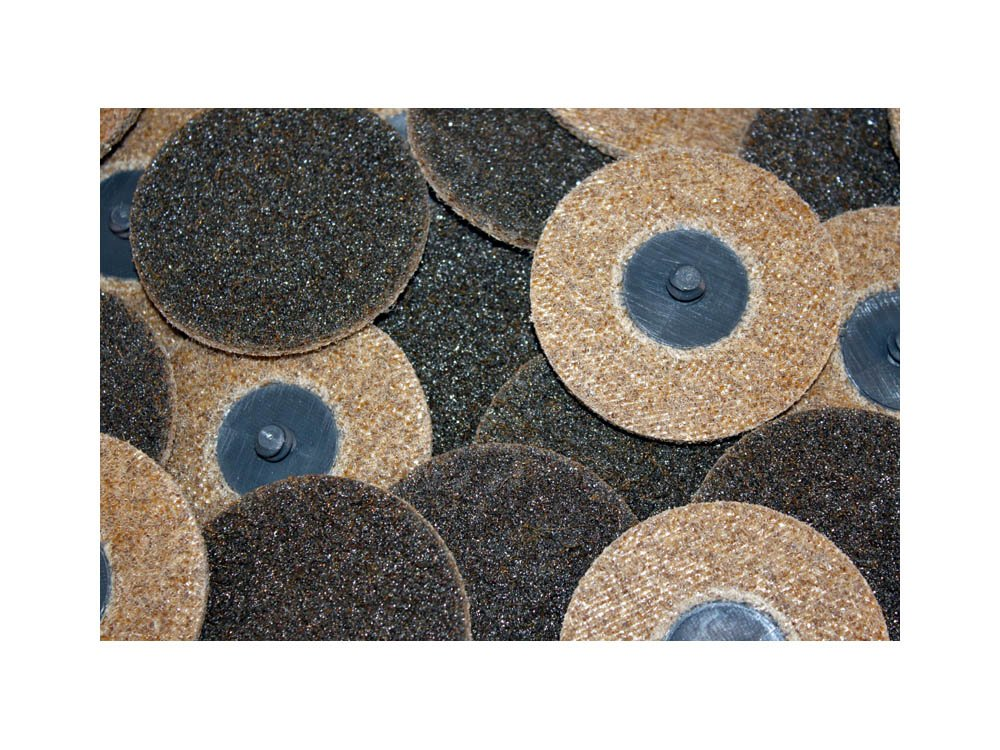 Car Builder Supply 770q25 Sand Loc Quick Change Type R Surface Conditioning Finishing Discs Course Brown 25pc 3'' Diameter