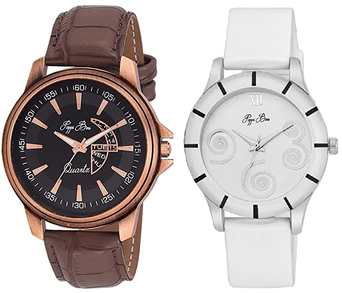 Analogue Multi-Colour Dial Women's Watches -Couple Wrist Watches Combo