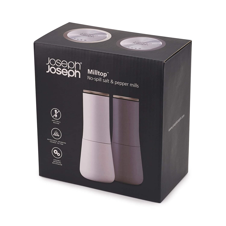 Multi Joseph Joseph Milltop Non-Spill Salt and Pepper Mill Set