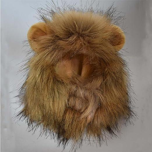 Weimi Gorro para Mascota diseño de león con Oreja Pequeña para Fiesta Cosplay Activity: Amazon.es: Productos para mascotas