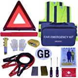OKVGO 15 Piece Car Euro Travel Kit for European Driving Abroad Breakdown Safety Emergency Tool Set