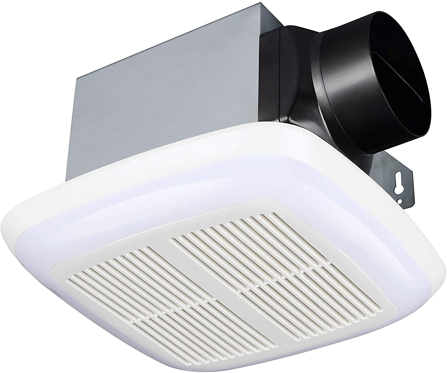 Tech Drive Very-Quiet 80 CFM 1.5 Sone No Attic access Needed Installation Bathroom Ventilation and Exhaust Fan With LED light 4000K 600LM ,Ceiling Mounted Fan,Easy to Install 80CFM
