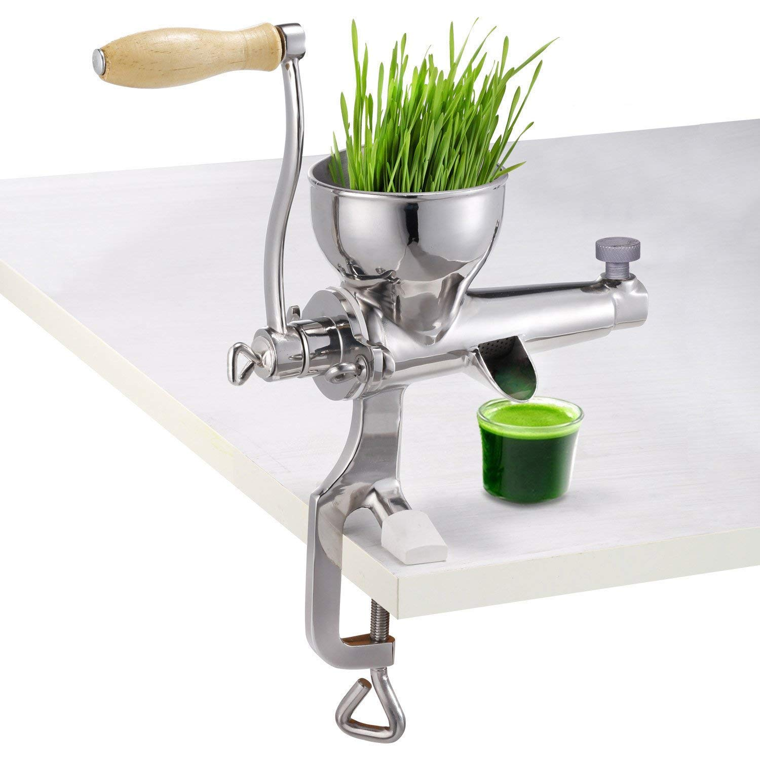Hand Manual Wheatgrass Juicer Heavy Duty Stainless Steel Leafy Green Juicer DIY Extractor Tool COMINHKPR121242