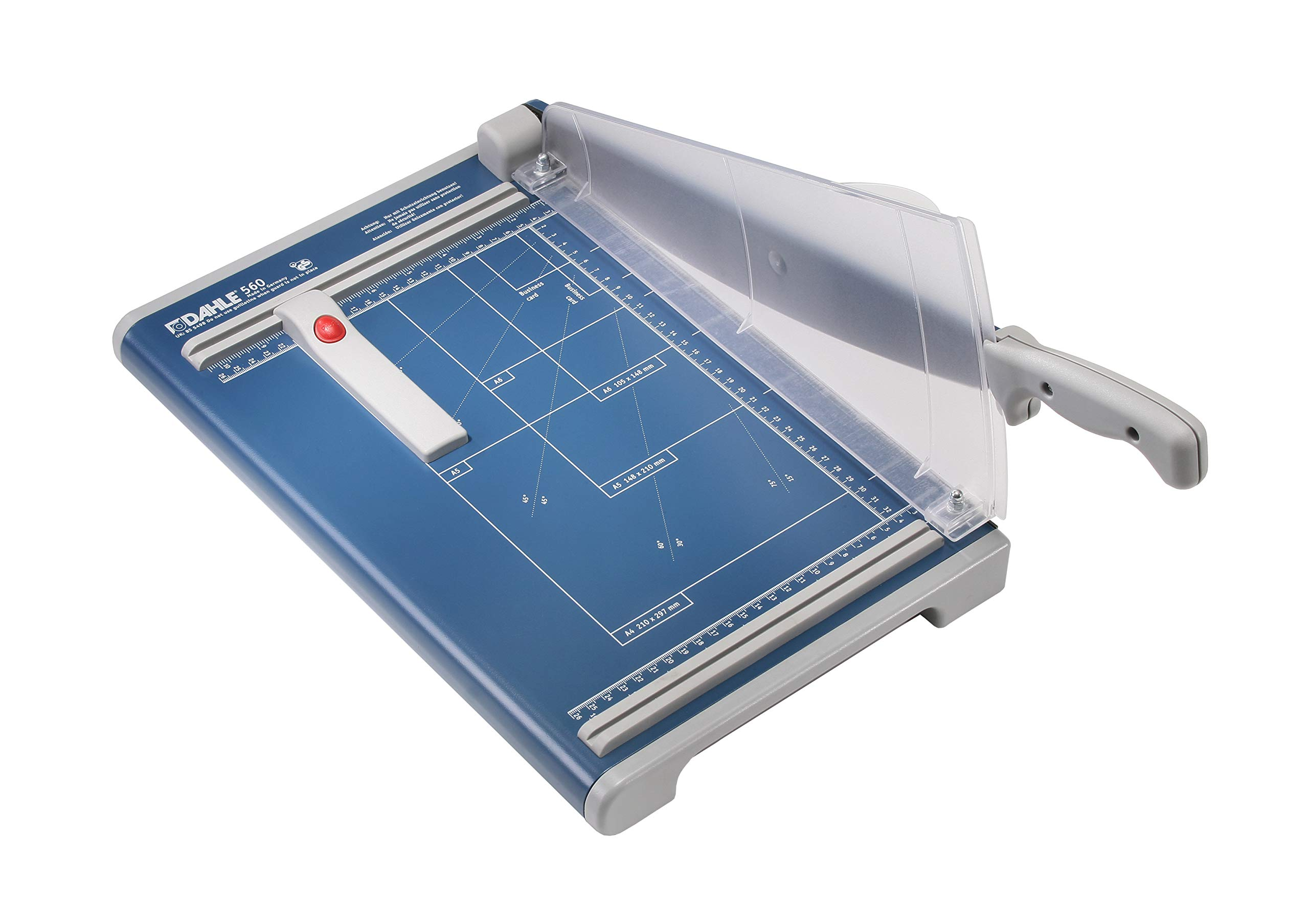 Dahle 560 Professional Guillotine Trimmer, 13-3/8'' Cut Length, 25 Sheet Capacity, Self-Sharpening, Safety Shield, German Engineered Cutter by Dahle