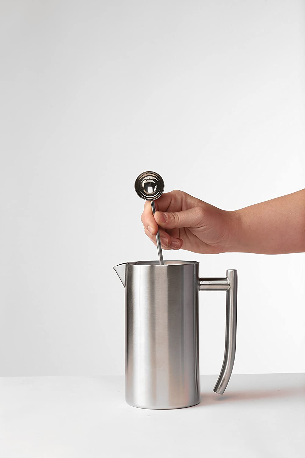 Frieling USA 130 Double Wall Stainless Steel French Press Coffee Maker 44 oz Silver