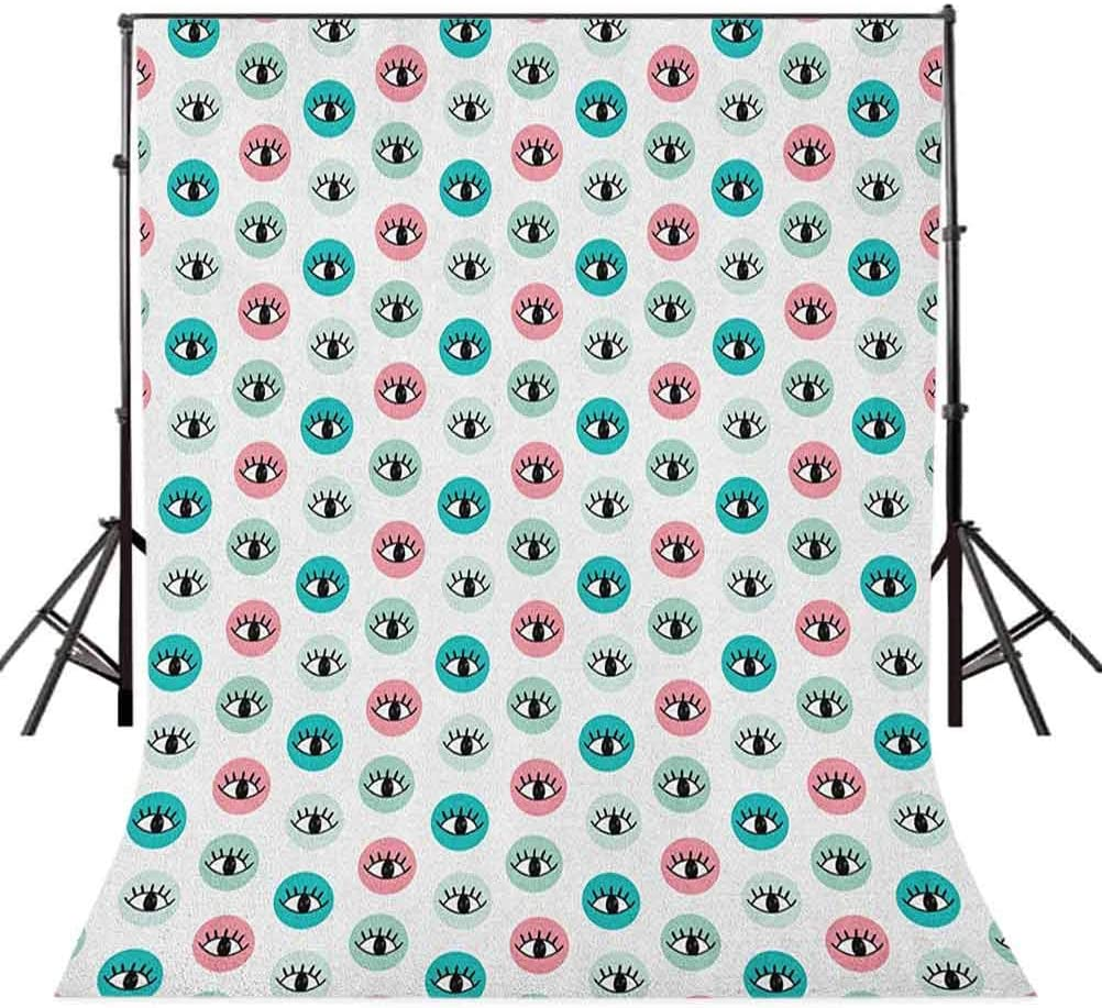 7x10 FT Mushroom Vinyl Photography Backdrop,Magic Landscape with Mushrooms Flowers in The Fresh Forest Ferns Cartoon Print Background for Baby Birthday Party Wedding Studio Props Photography