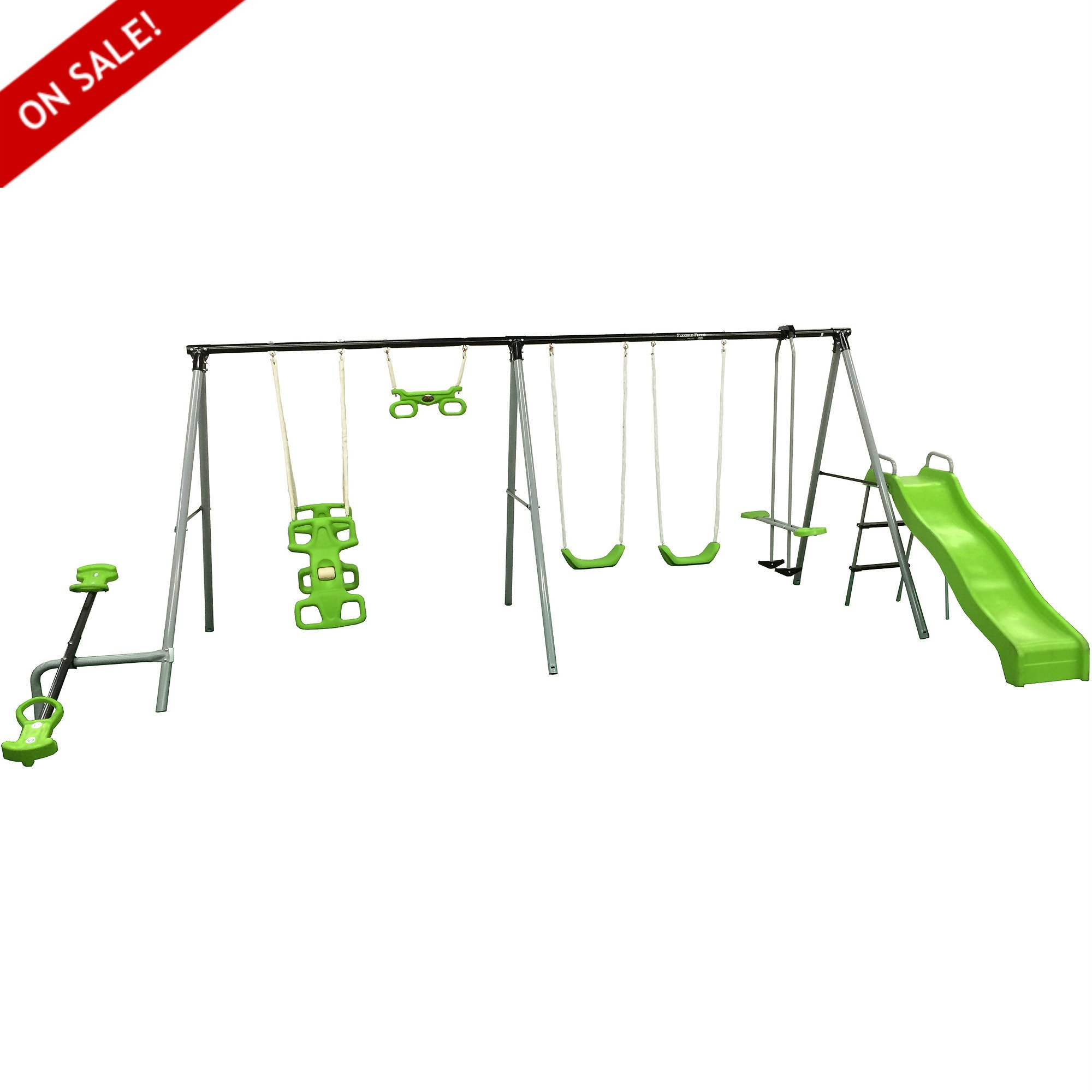 Metal Swing Set With Slide For Backyard Flexible Flyer Kids Outdoor Durable Playcenter For Physical Activity And Exercise Girld Boys Outdoor Games - Skroutz