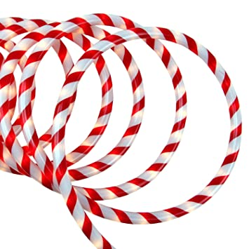 Amazon sienna 31533314 red and white candy cane indooroutdoor sienna 31533314 red and white candy cane indooroutdoor christmas rope lights 18 aloadofball Choice Image