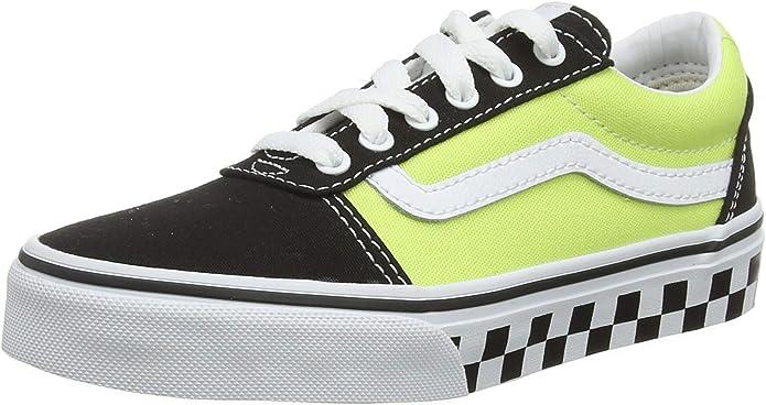 Vans Ward Sneakers Jungen Mädchen Kinder grün/schwarz karierte Außensohle