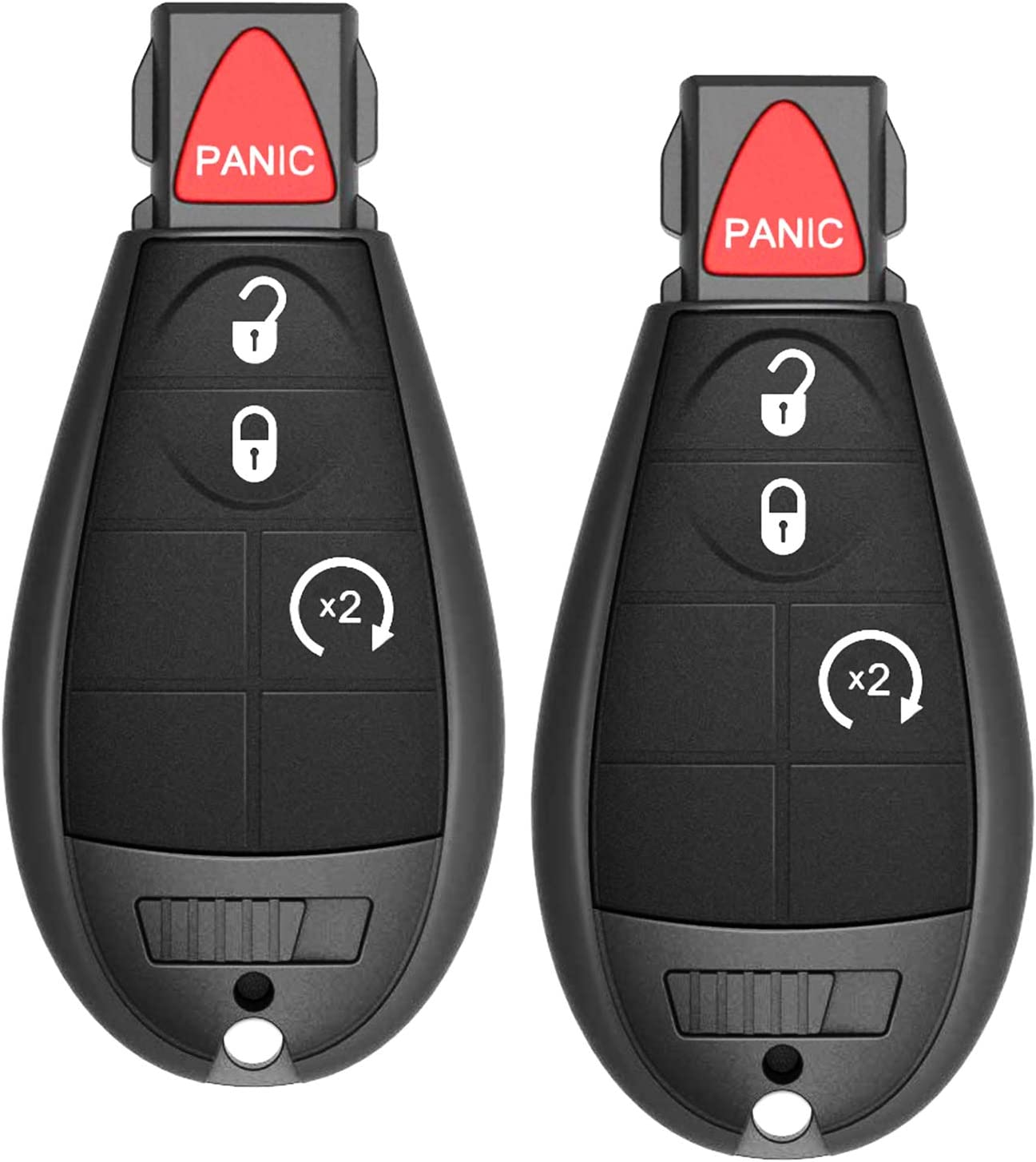 Journey 2009-2013 Set of 2 Challenger 2008-2014 Charger 2008-2012 VOFONO Remote Car Key Fob Fit for Chrysler Town and Country 2008-2010// Dodge Durango 2008-2013 Grand Caravan 2008-2014