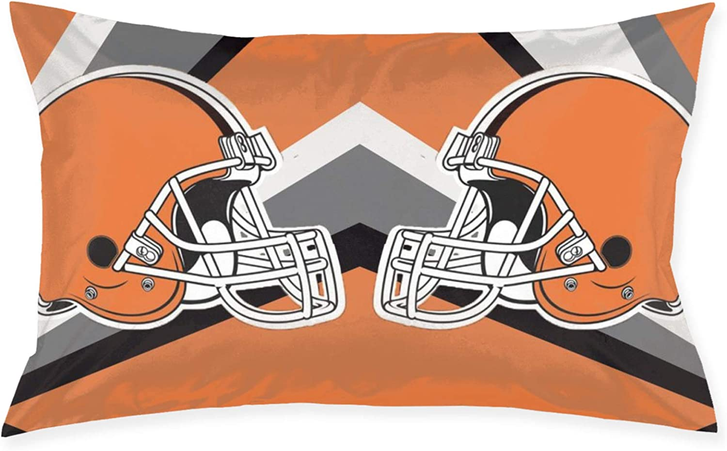 Franklin Sports Cleveland Browns Pillowcase With Hidden Zipper 1 Pack Queen Size Pillow Case For Sleeping Or Living Room Decoration Home Kitchen